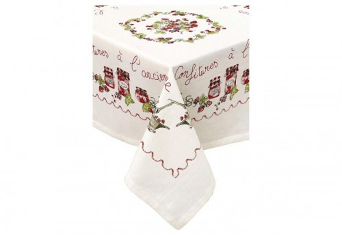 Nappe 100*100 COUNTRY CORNER FAMILY COOKING