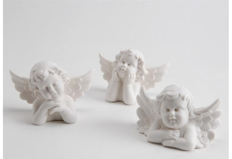 Lot de 3 anges reveur