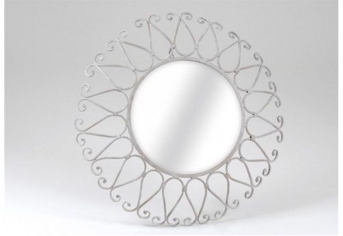Miroir Rond Volute Esther AMADEUS