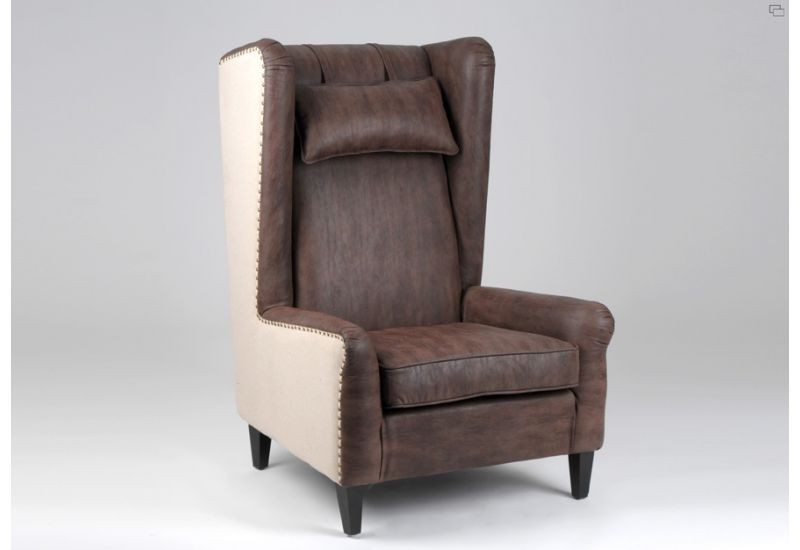 fauteuil bergere cuir jute amadeus amadeus 3115. Black Bedroom Furniture Sets. Home Design Ideas