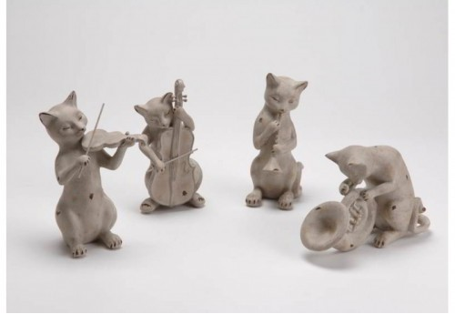 Lot 4 Chatons Musiciens Amadeus