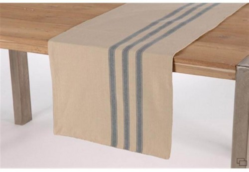 Chemin De Table Réversible Blue Stripes AMADEUS