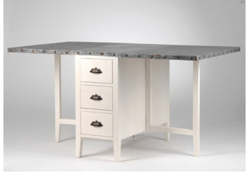 Table allonge rabattable zinc Amadeus