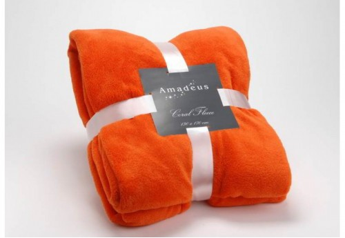 Plaid Doudou Orange 130X170 Amadeus