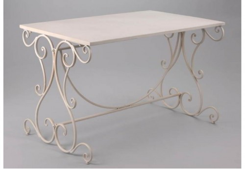 Table blanc flanelle b Amadeus
