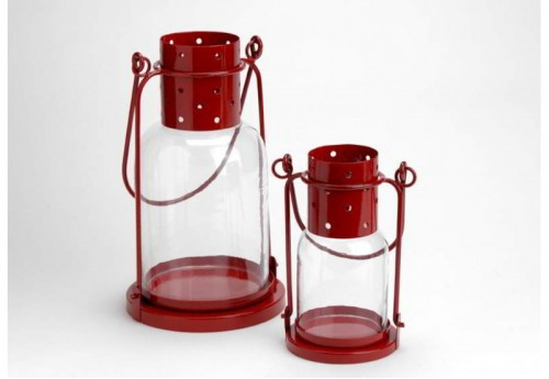Set de 2 Lanternes Rouges  Amadeus