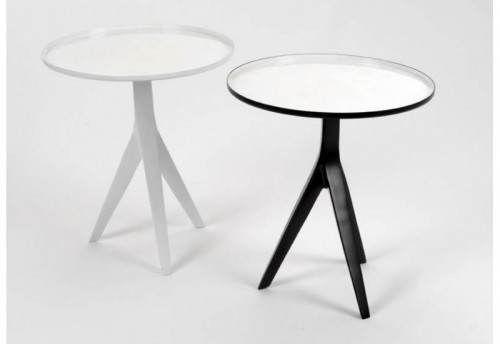 Lot De 2 Tables Trépied B/N Amadeus