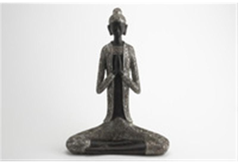 Bouddha assis silver