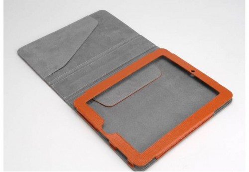 Pochette Ipad Orange Taupe  Amadeus