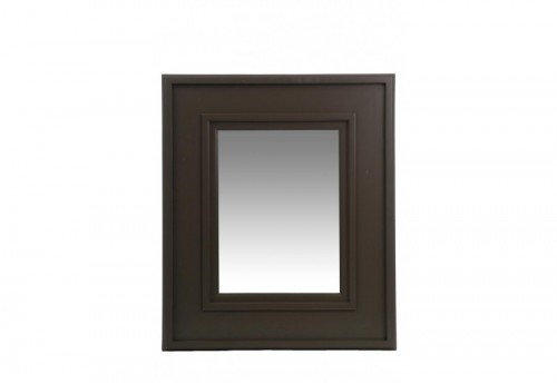 Miroir Rectangle Bois/Verre Gris 30X40Cm J-line