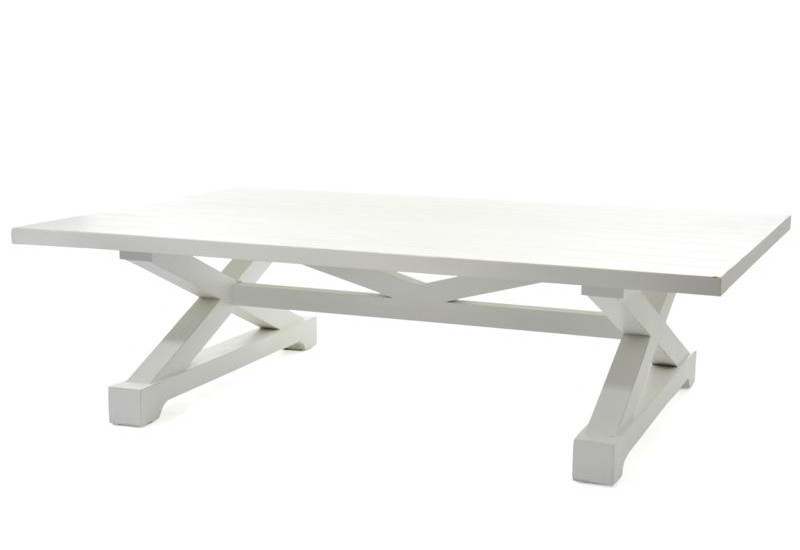 Table salon long island bois blanc 150x100x42cm j line j line by jo - Table basse bois blanc ceruse ...