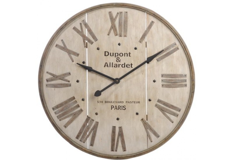 horloge paris bois beige marron 91x5cm j line j line by jolipa 9896. Black Bedroom Furniture Sets. Home Design Ideas