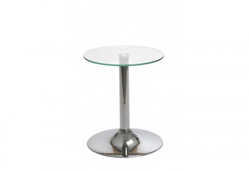 Table Verre/Métal Transparent 40X40X48Cm J-line