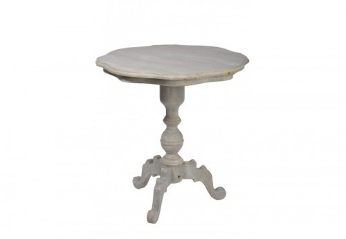 Table Ronde Bois Gris 70X70X74Cm J-line