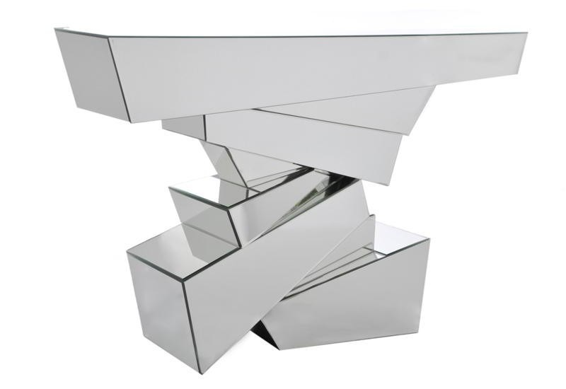 Console Rectangle Surface Miroir 119X33X78Cm
