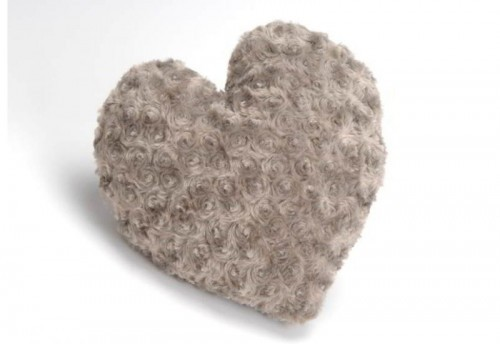 Coussin Coeur Taupe  Amadeus