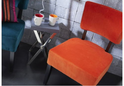 Fauteuil retro orange Amadeus
