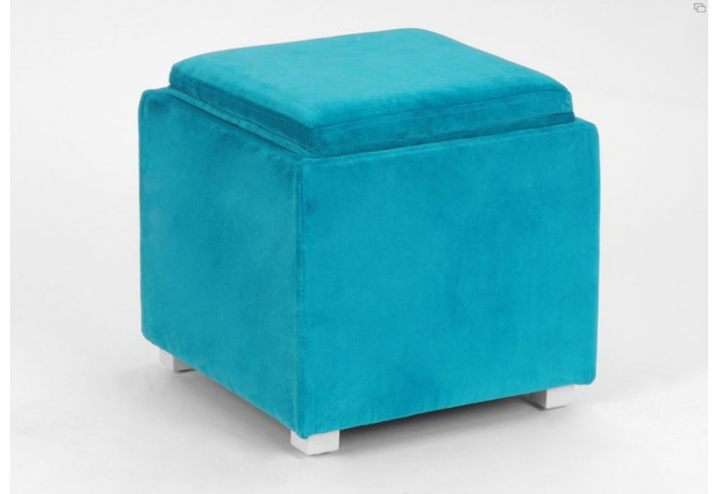 pouf coffre plateau turquoise amadeus amadeus 11382. Black Bedroom Furniture Sets. Home Design Ideas