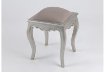 Tabouret T.Taupe Murano Argent