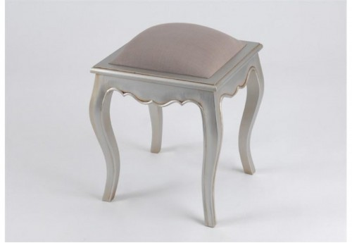 Tabouret T.Taupe Murano silver AMADEUS