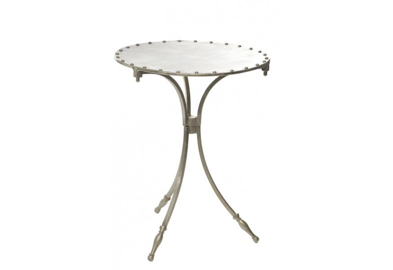 Table Rond Fer 45X45X60Cm