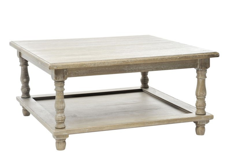 Table de salon carre bois 80x40cm j line j line by jolipa - Table basse carre bois ...