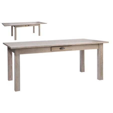 Table Rectangulaire Escamotable Bois Naturel 180X90X79Cm