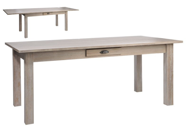 Table rectangulaire escamotable bois naturel 180x90x79cm j for Yverdon meubles jl zbinden s a