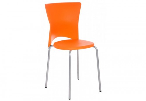 Chaise Plastique Orange 46,5X43X78,5Cm J-line