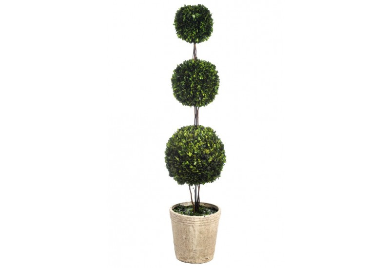 arbre buisson 3 boules dans pot vert 31x150cm j line j line by joli. Black Bedroom Furniture Sets. Home Design Ideas