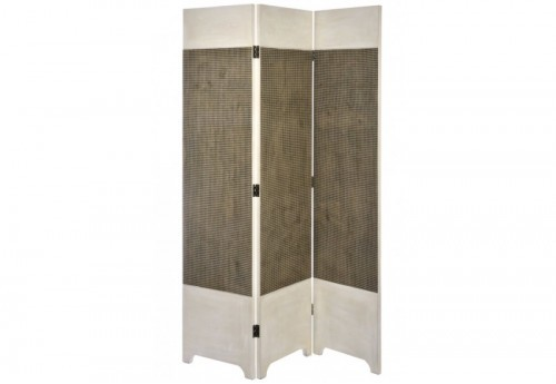 Paravent Bois Carreau Marron/Beige 135X2,5X180Cm J-line
