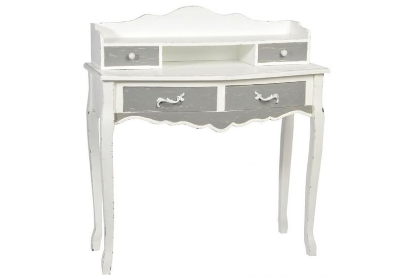 Bureau bois gris mobilier de bureau haut de gamme homeo textiles