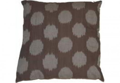 Coussin ikat taupe 40x40