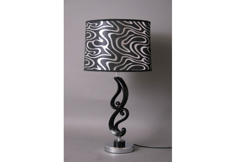 lampe volutes argent abat jour design socadis socadis 13426. Black Bedroom Furniture Sets. Home Design Ideas