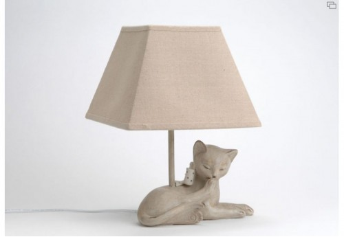 Lampe Chat Taupe AMADEUS