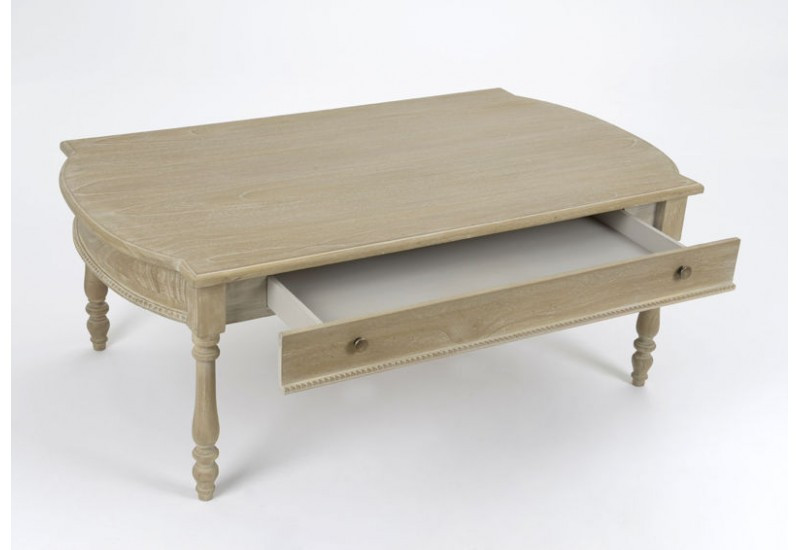 plus de photos 15c9d 76065 Table basse 1 tiroir ceruse Amadeus Amadeus AM-107936