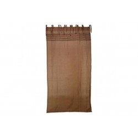 Rideau métis chocolat 140 x 270 cm