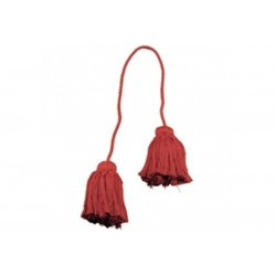 Lot de 2 embrasses rouge 100 cm