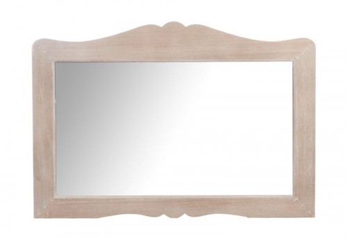 Miroir Rectangle Vague Bois Naturel 93X2X65Cm Jolipa