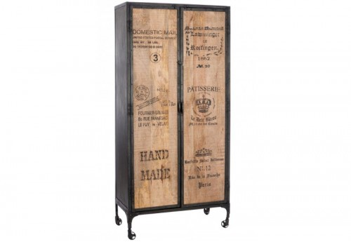 armoire 3 etag res bois naturel 90x42x190cm jolipa j line. Black Bedroom Furniture Sets. Home Design Ideas