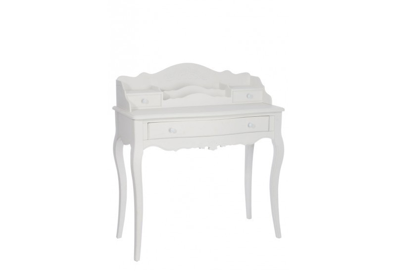 bureau louis xv bois blanc 91x43x101cm jolipa j line by. Black Bedroom Furniture Sets. Home Design Ideas