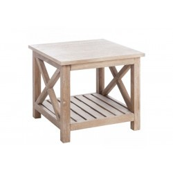 Table Salon Raide Bois Naturel 50X50X45Cm Jolipa