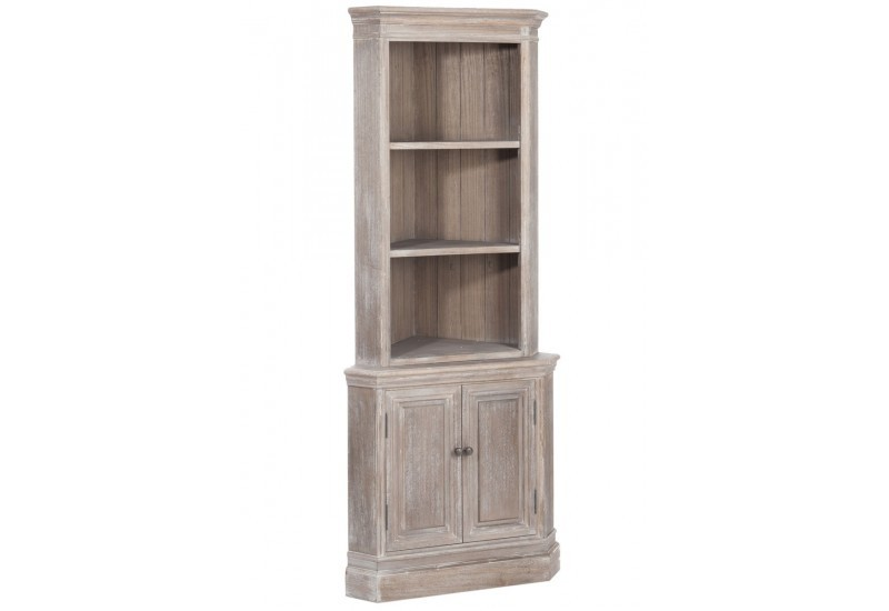 armoire de coin 2 plateaux 2 portes bois naturel. Black Bedroom Furniture Sets. Home Design Ideas