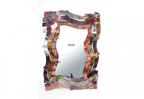 Miroir Rectangle Bandes Multicolores