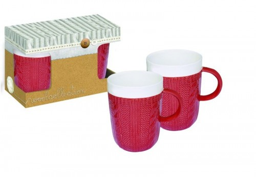 Ensemble 2 Mugs Rouge 400Ml