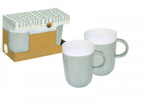 Ensemble 2 Mugs Gris 400Ml