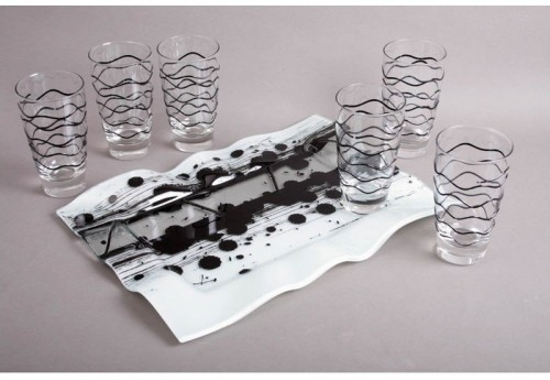 Ensemble Plateau + 6 Verres Long Drink