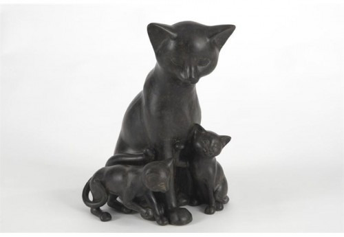 Statuette Famille Chats  AMADEUS