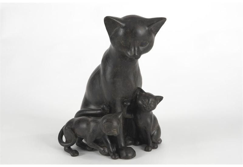 Statuette Famille Chats
