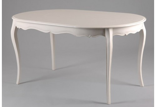 Table Ovale Blanc Patiné 150X90 Murano Shabby Chic Amadeus